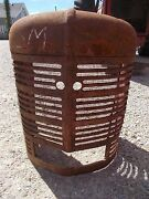 Farmall H Hv Early Tractor Straight Original Factory Ih Front Nose Cone Grill