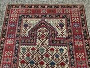 Fine And Early Antique Shirvan Ivory Field Caucasian Prayer Rug Estate Find