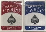 Monte Carlo Playing Card Red And Blue Decks Lot Of 2 Bundled Buy Poker Pinochle Q6
