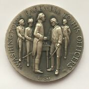 Washingtonand039s Farewell To His Officers Longines Symphonette .999 Silver Medal