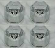 4 Cap Deal Pacer Wheel Rim 89-9235hm Chrome Center Caps With Wire Retainer Rings