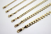 10k Authentic Solid Yellow Gold Cuban Chain For Men Women 1mm-10mm/1630
