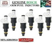 6-piece Fuel Injectors Yrs 91-95 Pontiac And Buick And Oldsmobile 3.8l V6 Oem Bosch