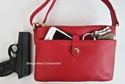 Concealed Carry Concealment Gun Purse Small Ccw Red Holster Cross Body