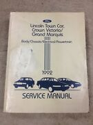 1992 Ford Crown Victoria Mercury Marquis Lincoln Town Car Oem Service Manual