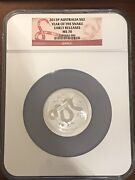 2013 Australia Lunar Year Snake 2 2oz Silver Ngc Ms70 Proof Coin Early Release