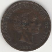 1877 Spain Alfonso Xii 10 Centimos   European Coins   Pennies2pounds
