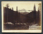 1880's Grand Central Hotel In Tent Antique Cpr Canadian Pacific Railway Photo