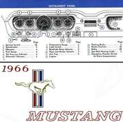 Ford Mustang Owners Manual 1966