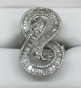 Unique Custom Made 18k Gold 1.79ct Diamond Fashion Cocktail Infinity Ring