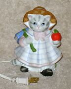 Kitty Cucumber Schmid Night Light School Ready Books And Apple 1988 With Tags