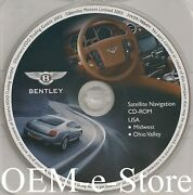2004-2006 Bentley Continental Gt Flying Spur Navigation Map Midwest Ohio Valley