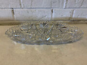 Antique Abp American Brilliant Cut Glass Signed Libbey Star Mark Celery Dish