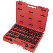 44pc 3/8 Dr Master Shallow And Deep Sae And Metric Impact Socket Set Carrying Case