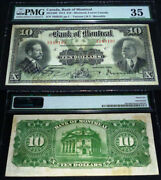 Scarce 2nd Highest Pmg Grade1914 10 Bank Of Montreal Pmg 35 Highest Pmg 40