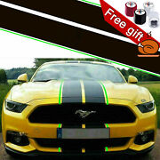 Black Green Racing Sporty Strip Graphics Sticker For Ford Mustang 2015-2020 New
