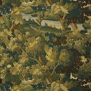 Cowtan And Tout Rustic Foliage Forest Trees Linen Fabric 10 Yards Olive Green Bark