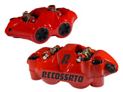 Accossato Radial Brake Caliper Set Forged W S-track Pads 108mm Red Body