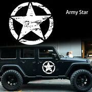 20'' Distressed Army Star Sticker Hood Body Cars Truck Off-road Vinyl Decal