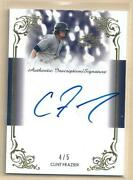 Clint Frazier 2013 Leaf Trinity Gold Inscriptions Autograph 4/5 Ny Yankees Rc