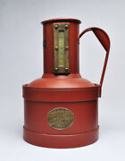 Antique Dover Field Test 1 Gal Measuring Can Gas Oil Service Station Early 1900