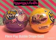 Pikmi Pops Surprise Bubble Drops Glitter Squeezer New Set 2 Sealed In Hand