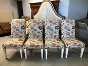 4 Thomasville Jaydn Upholstered High Back Parsons Dining Chairs Set 1652 15