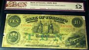 1929 Bank Of Toronto 10 Canada Chartered Banknote