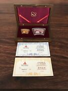The Commemorative Silver And Gold Coins Of Chinese Ji Chou Year Year Of Ox