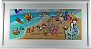 Hanna Barbera Cel Signed Characters Endless Summer Droopy Scooby Flintstones