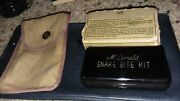 Very Rare Wwii Army Issued Mcdonald Snake Bite Kit W/ Original Canvas Case And Box