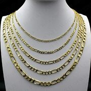 Real 10k Solid Yellow Gold 2mm-6mm Figaro Link Chain Pendant Necklace 14- 30