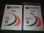Ditch-witch 100sx Trencher Plow Operation Maintenance Parts Manual Book