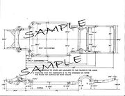 1961-1964 Dodge W500 4wd Pick Up Truck Nos Frame Dimensions Alignment Specs