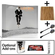 Coyote 8and039 Curved Graphic Pop-up Display Starter Kit