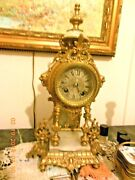 Antique French Japy Freres 1867 Medal Ormolu Bronze Dore Mantle Clock Museum Pc