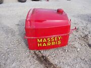 Massey Harris 33 Tractor Good Working Original Mh Gas Tank And/ Cap Dent Free