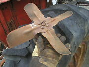 Massey Harris Ferguson 50 Tractor Main Front Motor Engine Fan And Pulley