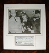 Maurice Nick Mcdonald Signed Cheque - Policeman Who Arrested Lee Harvey Oswald