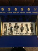 2016-17 Golden State Warriors Team Bobblehead Set Durant, Curry, Klay