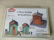 Model Power Ho Scale 3 Trackside Buildings 437 New In Sealed Box