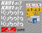 Kubota Kx91-3 Mini Digger Complete Decal Set With Safety Warning Signs