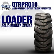 38x14-20 Sentry Tire Solid Loader Tires 2 Tires /w Wheels 38-14-20 15x19.5
