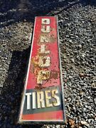 1940and039s Original 60 Dunlop Tire Oil Gas Station Sign