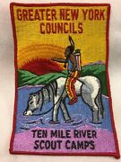 Boy Scouts- Ten Mile River Scout Camps Jacket Patch - 7 1/4 Tall X 4 3/4