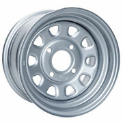 Itp 4/115 Steel Wheel 12x7 5.0 + 2.0 Silver For Arctic Cat Atvs