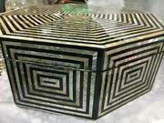 Egyptian Handmade Jewelry Box Inlaid Mother Of Pearl 14.4