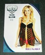 2016 Benchwarmer Michelle Mclaughlin Eclectic 13 Ice Blue Foil 1/1 Playboy Hot