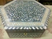 Egyptian Jewelry Box Inlaid Mother Of Pearl 12