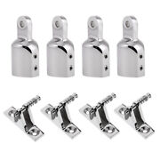 8x Boat Deck Hinge And 1and039and039 Eye End Cap Bimini Top Canopy Fitting Accessories